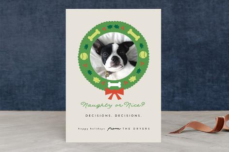 Doggy Nice List Holiday Photo Cards
