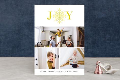 Detailed Joy Holiday Photo Cards