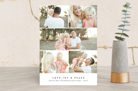 Modern Display Holiday Photo Cards