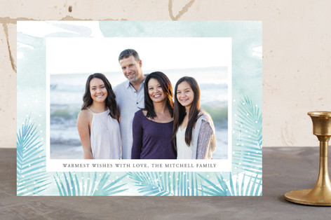 Watercolour Palms Holiday Photo Cards