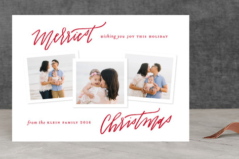 Handwritten Holiday Holiday Photo Cards