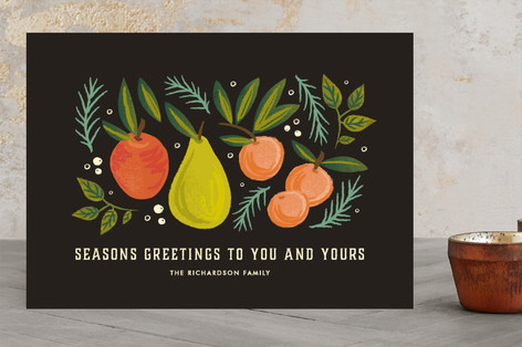 fruitful new year Holiday Photo Cards