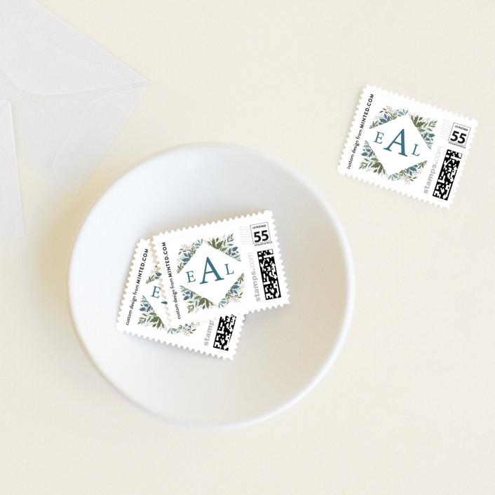 """Flourish"" - Baby And Kids Stamps in Garden by Paper Sun Studio."