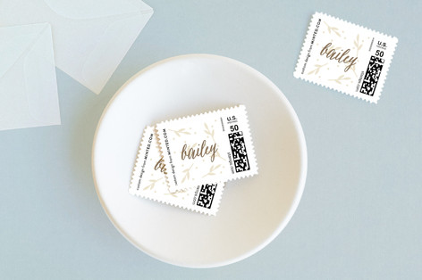 Shiny leaves Baby and Kids Stamps