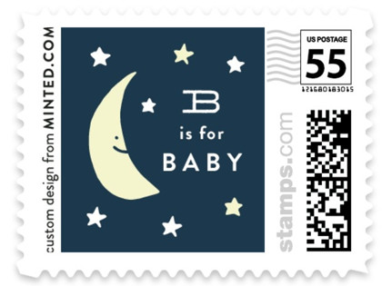 Moon and stars Baby and Kids Stamps