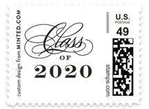 This is a white kids postage stamp by Jennifer Wick called Stacked class with standard printing on adhesive postage paper in stamp.