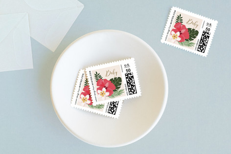 Tropical Shower Baby and Kids Stamps