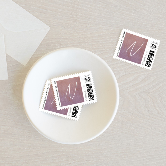 """""""Poetic"""" - Baby And Kids Stamps in Sunset by Everett Paper Goods."""
