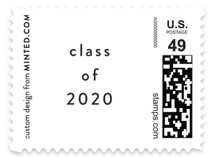 This is a white kids postage stamp by Kasia Labocki called Celebrate! with standard printing on adhesive postage paper in stamp.