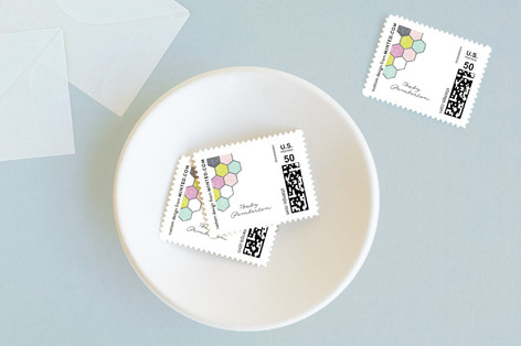 modern honeycomb Baby and Kids Stamps