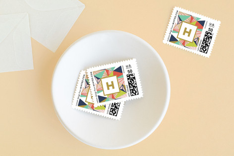 Geometric Frame Baby and Kids Stamps