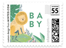 This is a colorful kids postage stamp by Alethea and Ruth called Jungle Animal Sketchbook with standard printing on adhesive postage paper in stamp.