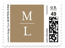 This is a brown kids postage stamp by Carrie ONeal called Forward Steps with standard printing on adhesive postage paper in stamp.