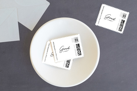 Modern Scripted Name Baby and Kids Stamps