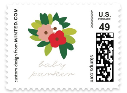 Woodland Flower Trees Baby and Kids Stamps