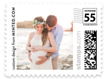 This is a white kids postage stamp by Minted called Picture This with standard printing on adhesive postage paper in stamp.