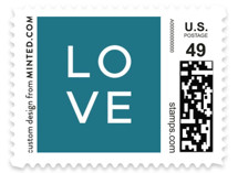 This is a white kids postage stamp by Brandy Folse called That's My Name with standard printing on adhesive postage paper in stamp.