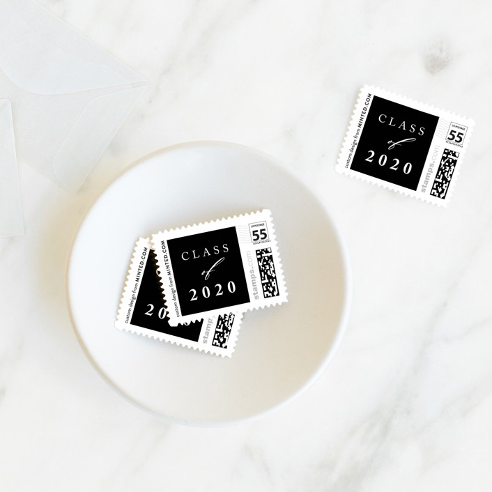 """Break boundaries"" - Baby And Kids Stamps in Ivory by Yaling Hou Suzuki."