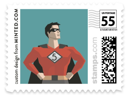 Calling All Superheroes Baby and Kids Stamps