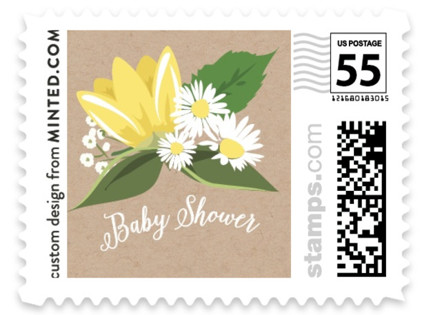 Go Green Shower Baby and Kids Stamps