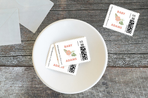 Sweet Flowers Baby and Kids Stamps