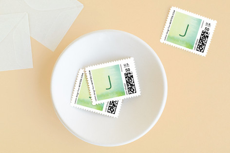 Abstract Greenery Baby and Kids Stamps