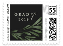 This is a green kids postage stamp by Grae Sales called Classic Foliage with standard printing on adhesive postage paper in stamp.