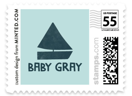 Ahoy Little Boy Baby and Kids Stamps
