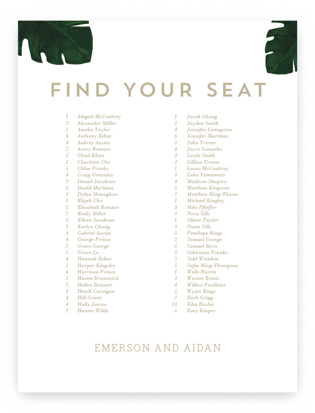 Palm Seating Charts