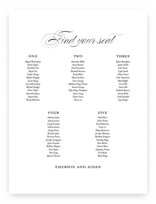 scripted ampersand Seating Charts