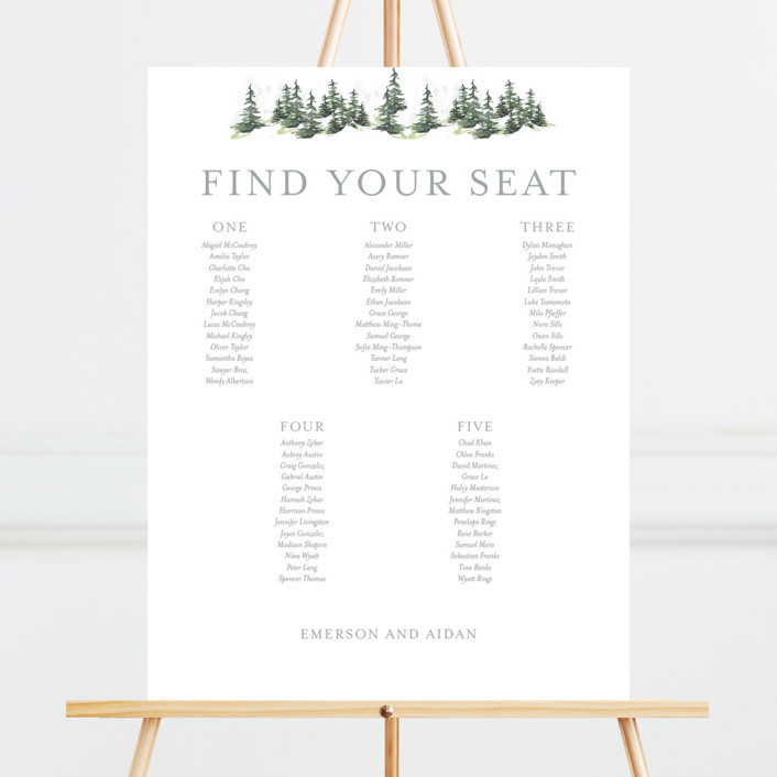 On the Slopes Seating Charts