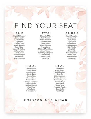 Etheral Bouquet Seating Charts