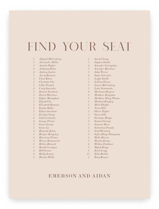 Everly Seating Charts