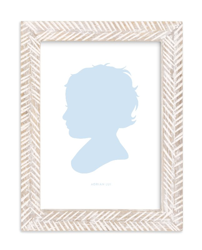 """Custom Silhouette Art"" - Silhouette Digital Art by Minted in beautiful frame options and a variety of sizes."