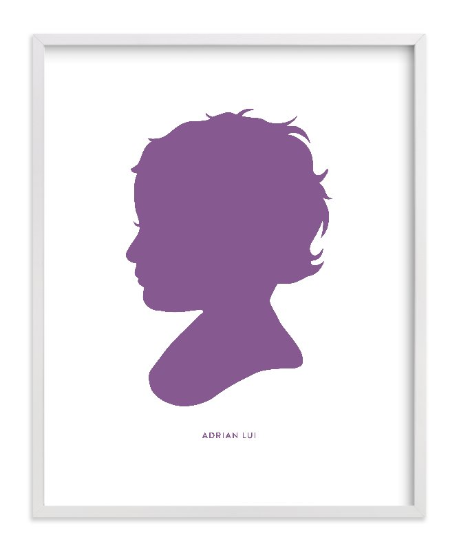 This is a purple silhouette art by Minted called Custom Silhouette Art with standard.