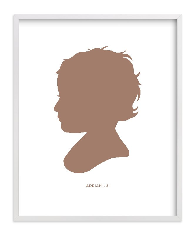 This is a brown silhouette art by Minted called Custom Silhouette Art with standard.