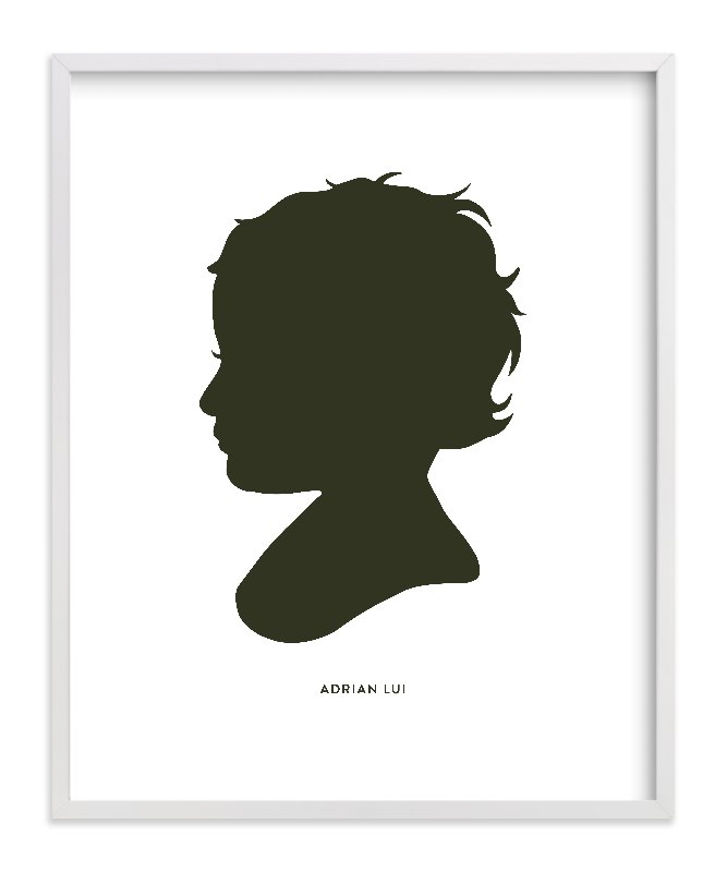 This is a black silhouette art by Minted called Custom Silhouette Art with standard.