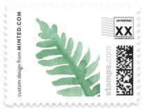 Painted Ferns Non-custom Everyday Stamps