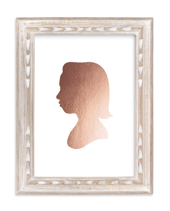 """Custom Silhouette Foil Art"" - Silhouette Foil Art by Minted in beautiful frame options and a variety of sizes."