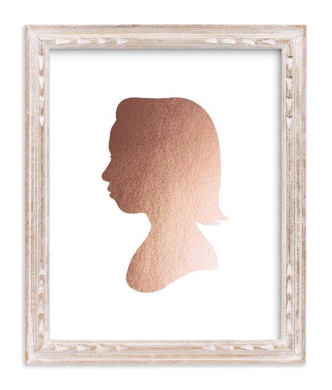 """""""Custom Silhouette Foil Art"""" - Silhouette Foil Art by Minted in beautiful frame options and a variety of sizes."""