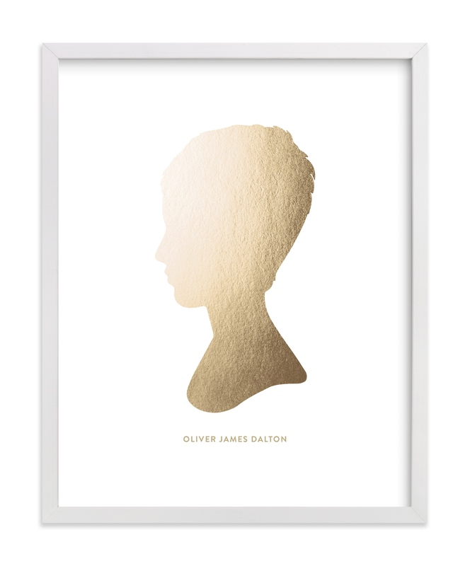 This is a gold silhouette art by Minted called Silhouette Foil  Art.