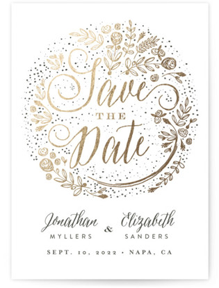 The Wedding Bouquet Foil-Pressed Save the Date Cards