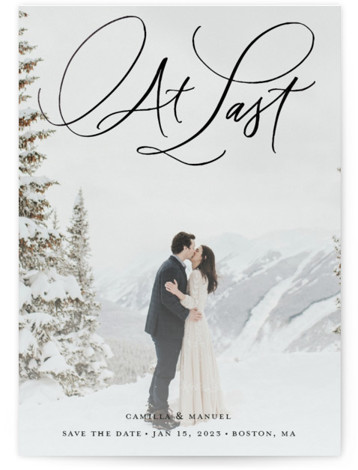 At long last Foil-Pressed Save The Date Cards