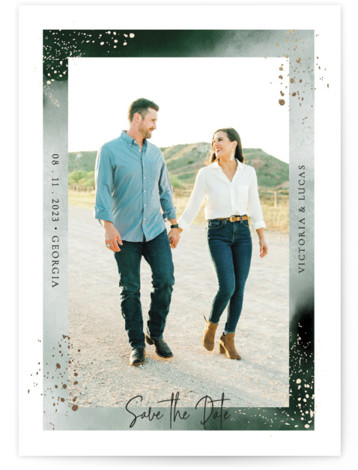Grace Foil-Pressed Save The Date Cards