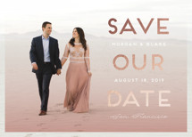 Ombre Shimmer Foil-Pressed Save the Date Cards By Lorent and Leif