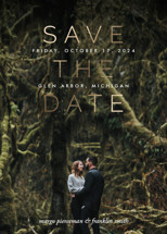 Stacked and Foil Foil-Pressed Save the Date Cards By Pixel and Hank