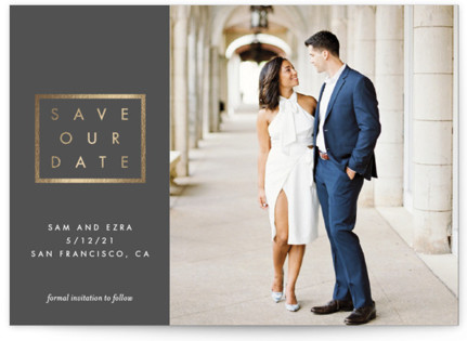 Look of Love Foil-Pressed Save the Date Cards