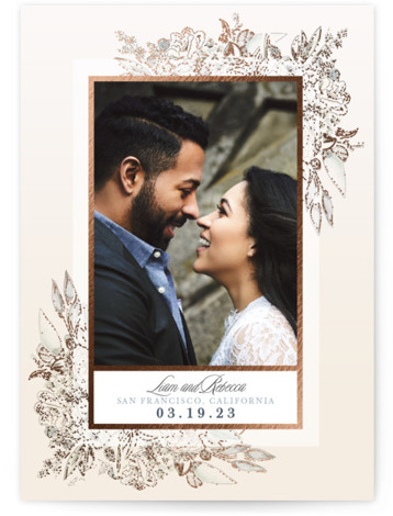 Charmed Romance Foil-Pressed Save The Date Cards