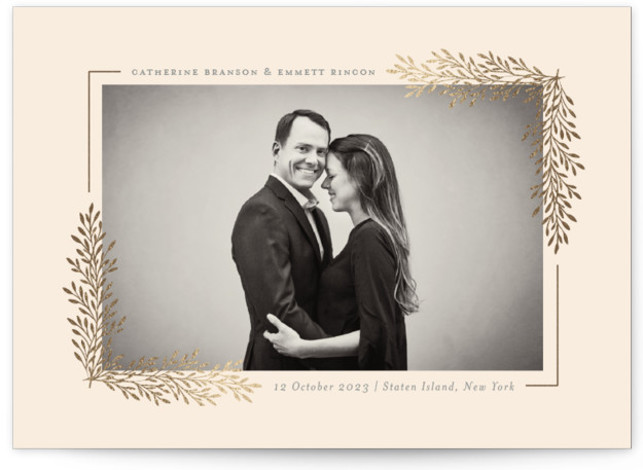 Staten Island Foil-Pressed Save The Date Cards