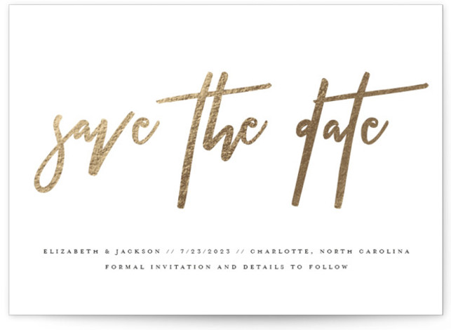 Profile Foil-Pressed Save The Date Cards